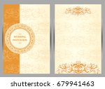 wedding invitation or card with ... | Shutterstock .eps vector #679941463