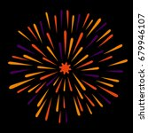 fireworks vector with black... | Shutterstock .eps vector #679946107