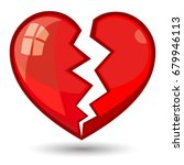 broken heart vector | Shutterstock .eps vector #679946113