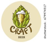 craft beer logo  lettering... | Shutterstock .eps vector #679974517