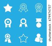 rosette icons set. set of 9... | Shutterstock .eps vector #679974757