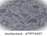 Stock photo texture background image black and white fabric with a pattern of flowers black and white 679976407