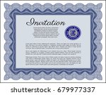 blue invitation template. with... | Shutterstock .eps vector #679977337