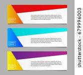 banner design template set.... | Shutterstock .eps vector #679996003