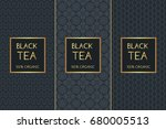 tea package set template vector.... | Shutterstock .eps vector #680005513