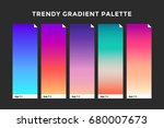 trendy gradient swatches.... | Shutterstock .eps vector #680007673
