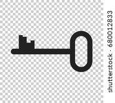key vector icon. key flat... | Shutterstock .eps vector #680012833