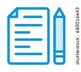 file editor icon | Shutterstock .eps vector #680016643