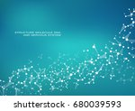 abstract molecule background ... | Shutterstock .eps vector #680039593
