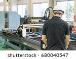 electrical engineer working... | Shutterstock . vector #680040547