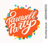 farewell party banner. | Shutterstock .eps vector #680048053