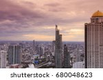 view from rooftop of skyscraper ... | Shutterstock . vector #680048623