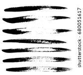 ink vector brush strokes set.... | Shutterstock .eps vector #680051617