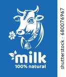 Cow Natural Milk Illustration ...