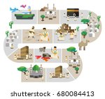 hajj series infographic. vector ... | Shutterstock .eps vector #680084413
