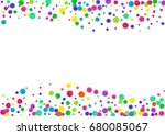 watercolor rainbow colored... | Shutterstock . vector #680085067