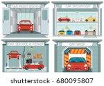 set of car service station ... | Shutterstock .eps vector #680095807