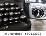 old vintage retro camera with... | Shutterstock . vector #680113333