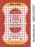 summer picnic party invitation... | Shutterstock .eps vector #680119207