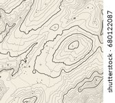 seamless pattern. topographic... | Shutterstock .eps vector #680122087