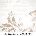 invitation vintage card with... | Shutterstock .eps vector #68017279