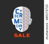 super sale concept. cyber... | Shutterstock . vector #680173723