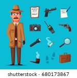 funny detective character.... | Shutterstock .eps vector #680173867