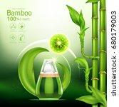 bamboo collagen serum and... | Shutterstock .eps vector #680179003