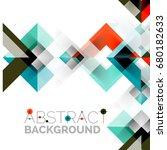 modern square geometric pattern ... | Shutterstock . vector #680182633