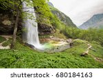 waterfalls and water games... | Shutterstock . vector #680184163