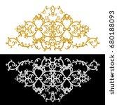 set of decorative elements....   Shutterstock . vector #680188093