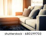 contemporary interior of living ...   Shutterstock . vector #680199703