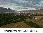 landscape of vang vieng  laos   ... | Shutterstock . vector #680201857