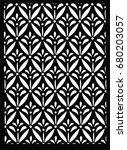 kawung indonesian batik  black...   Shutterstock .eps vector #680203057