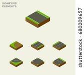 isometric road set of cracks ...   Shutterstock .eps vector #680209657