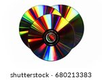colorful of dvd r on white... | Shutterstock . vector #680213383