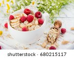 tasty and healthy oatmeal... | Shutterstock . vector #680215117