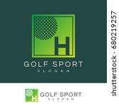 golf sport initial letter h...   Shutterstock .eps vector #680219257