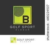golf sport initial letter b...   Shutterstock .eps vector #680224537