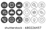 mail  news icons. conference ... | Shutterstock .eps vector #680226457