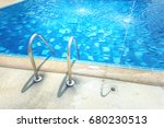 grab bars ladder in the blue... | Shutterstock . vector #680230513