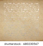 vintage old paper texture with... | Shutterstock .eps vector #680230567
