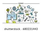line art colorful illustration. ... | Shutterstock . vector #680231443