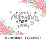 beautiful illustration of happy ... | Shutterstock .eps vector #680234077