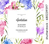 invitation card background... | Shutterstock .eps vector #680239597