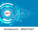 cyber security protection... | Shutterstock .eps vector #680247667