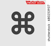 bowen knot icon isolated sign... | Shutterstock .eps vector #680253937