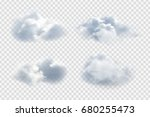 Vector realistic isolated cloud on the transparent background. | Shutterstock vector #680255473