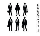 business man vector illustration | Shutterstock .eps vector #680259373