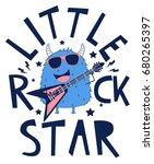 little rock star monster... | Shutterstock .eps vector #680265397